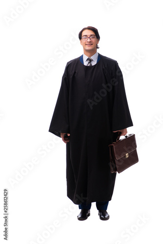 Young handsome judge isolated on white Slika na platnu