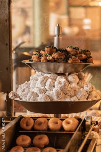 Fresh Mini Donuts On Display