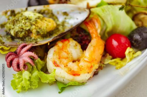 Seafood Cocktail Chef S Salad Restaurant Menu Delicious