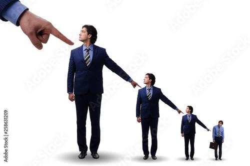 Fotografia Businessmen blaming each other for failures