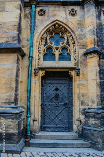 Fototapety, obrazy: Antique door in the in the Prague Castle grounds. Czech Republic, Europe