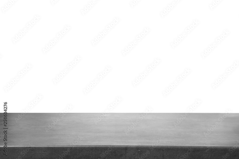 Fototapety, obrazy: Empty stone surface against white background. Mockup for design