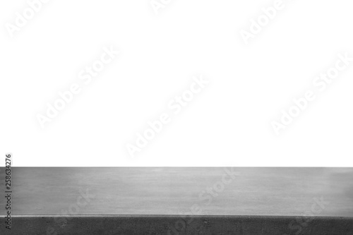 Fotografering  Empty stone surface against white background. Mockup for design