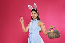 Beautiful Woman In Bunny Ears ...