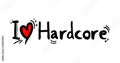 Obraz na plátne  Hardcore music style