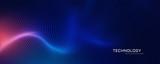 streszczenie technologia cząstek siatki tło