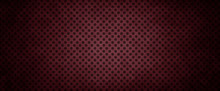 Dark Red Background With Black Polka Dot Grid Pattern And Black Grunge Border
