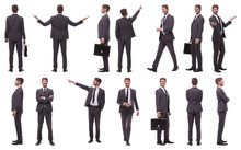 Collage Of Various Photos Of A Successful Businessman