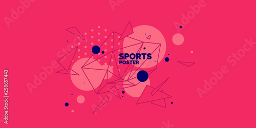 Modern colored poster for sports Wallpaper Mural