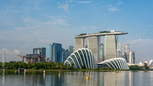 Staande foto Singapore Singapore skyline