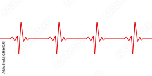 Heartbeat line Canvas Print