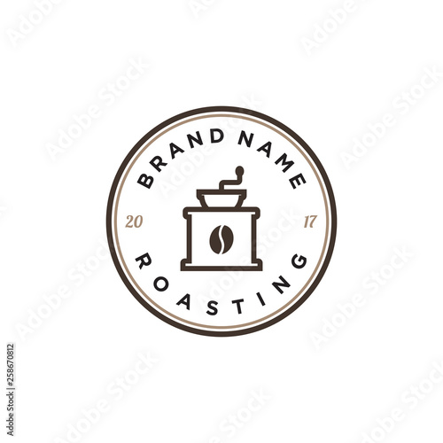 coffee roaster logo design Fototapeta