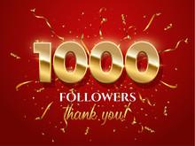 1000 Followers Celebration Vec...
