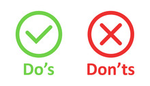 Do's And Don'ts Sign Icon In F...