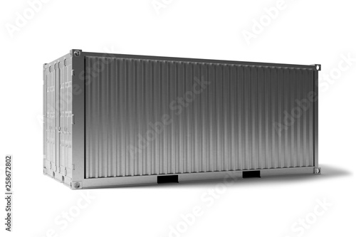 Obraz na płótnie Mock up of a container on a dock - 3d rendering