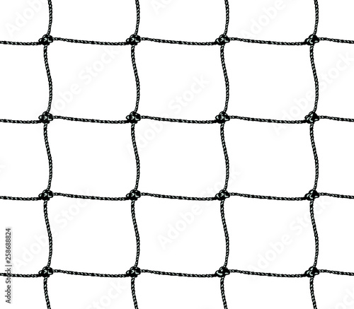 Seamless pattern of soccer goal net or tennis net Fototapeta