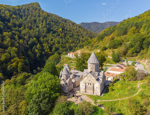 Ancient Haghartsin monastery.  Armenia. Top view Canvas Print