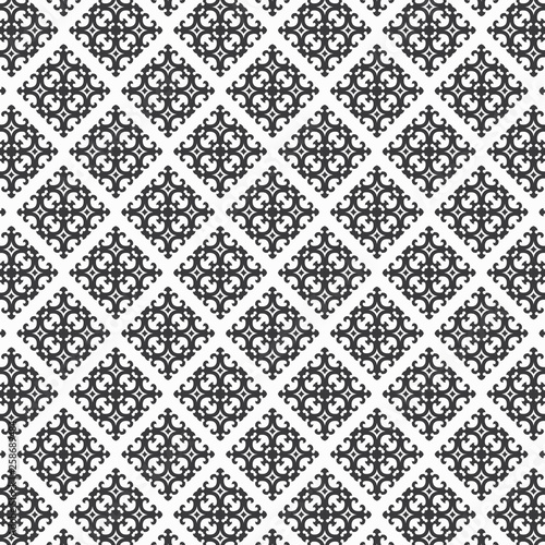 Oriental Pattern In Black And White