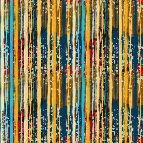 Poster Boho Stijl Abstract art distressed seamless pattern