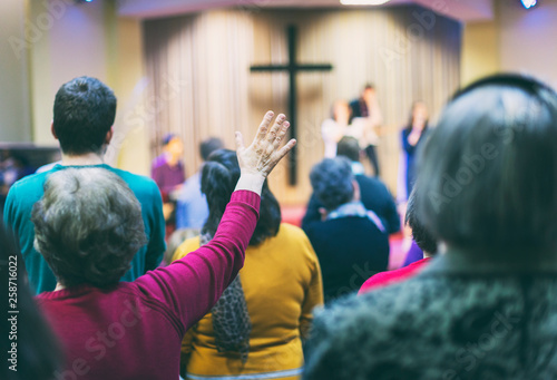 Fotografie, Obraz  Christian congregation worship God together