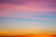 Dramatic sunrise sky shades of the color, natural background.