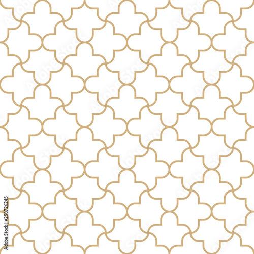 Foto auf Leinwand Künstlich Seamless golden oriental pattern. Geometric linear texture. Vector illustration. Simple tiled texture.