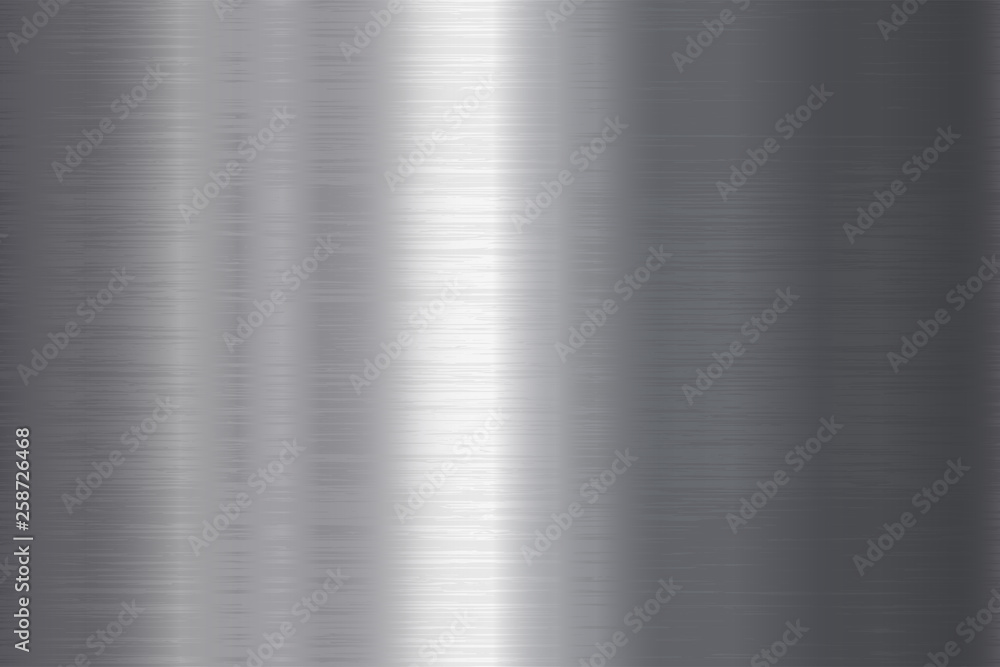 Fototapety, obrazy: Seamless brushed metal texture. Vector steel background with scratches.