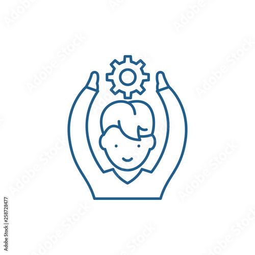 Fotografía  Employee potential line concept icon