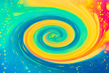 Abstract Magical Swirl Design Pattern Background Illustration