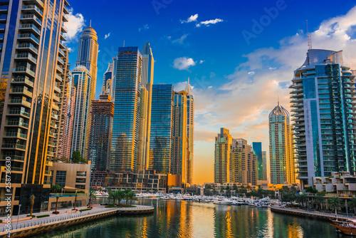 Fotografia, Obraz  Modern residential architecture of Dubai Marina, UAE