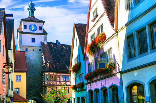 Landmarks of Germany - Rothenburg ob der Tauber .Famous route