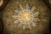 The Dome Mosaic In Orthodox Ba...