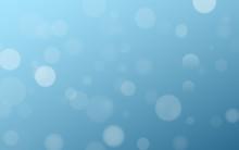 Light Effect Blue Glares Bokeh. Abstract Lights Bokeh On Blue Background. Blue Gradient. Blurred Lights. Snowfall Effect. Random Blurry Spots. Vector Illustration.