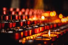 Church Candles In Catholic, Concept Of Faith God