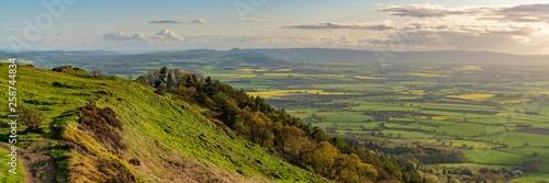 Türaufkleber Beige View from the Wrekin, near Telford, Shropshire, England, UK - looking south towards Eyton