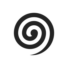 Black Spiral Illustration. Vector. Isolated.