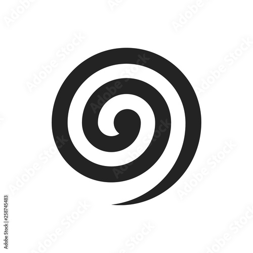 Obraz Black spiral illustration. Vector. Isolated. - fototapety do salonu
