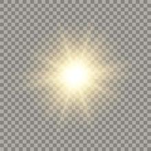 Golden Shining Vector Sun