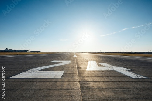 Surface level of airport runway Wallpaper Mural