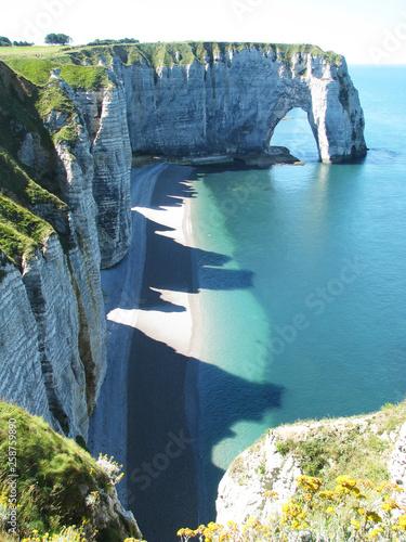 Fotomural White rocks in Normandy