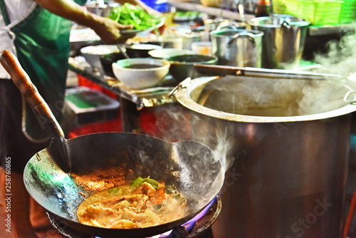 Chinese street food sold in Bangkok Chinatown