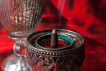 Burning Aromatic Incense Cones