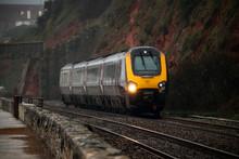 Train At Dawlish Warren In Devon