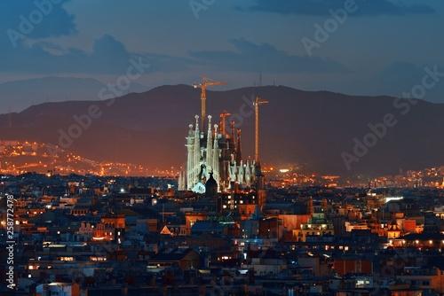 Photo Sagrada Familia night view