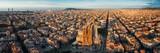 Fototapeta Most - Sagrada Familia aerial view