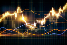Glowing Forex Chart Texture