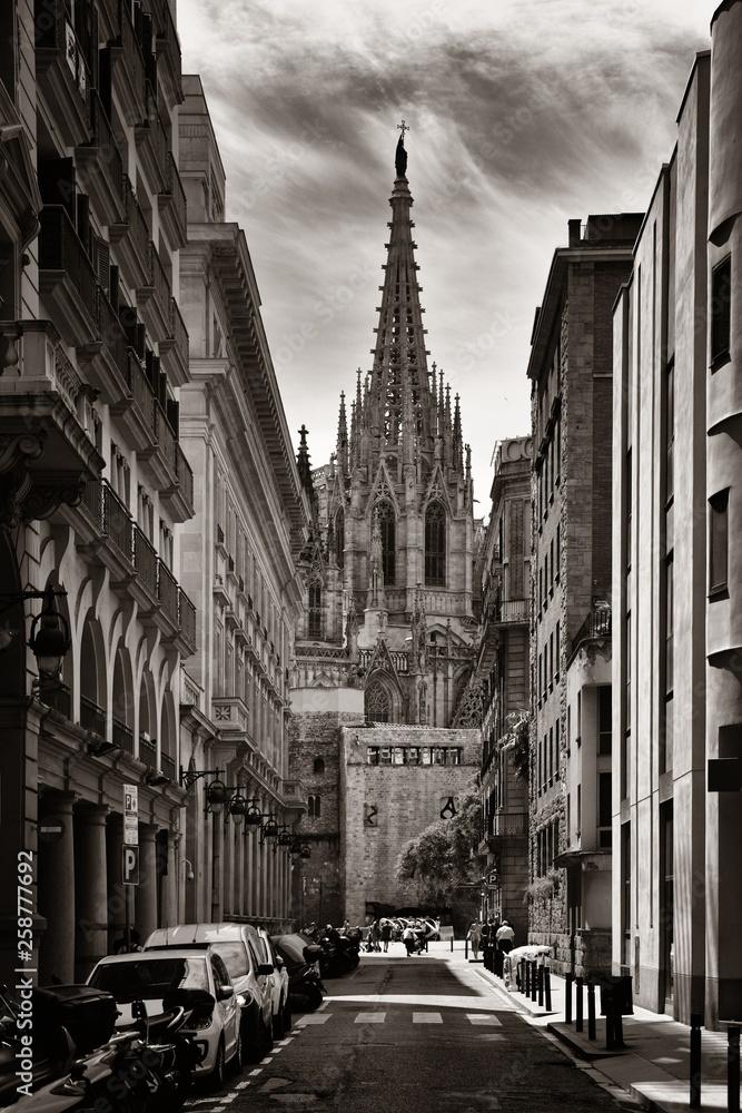 Fototapeta Barcelona Cathedral in Gothic Quarter
