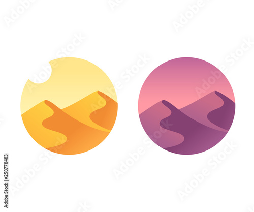Photo Desert landscape icon