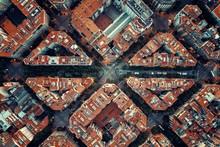 Barcelona Street Aerial View