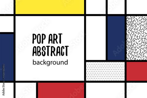 Geometria pop-artu w stylu mondrian z powrotem